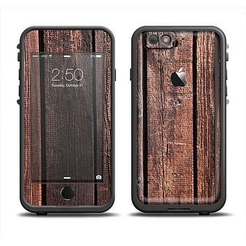 The Vetrical Raw Dark Aged Wood Planks Apple iPhone 6 LifeProof Fre Case Skin Set