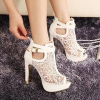 European women personality wedding high heels Colorful butterfly heeled sandals pumps bow party shoes woman bridal pumps