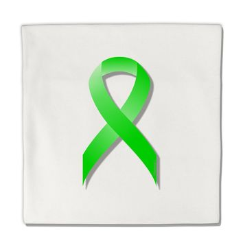 "Lyme Disease Awareness Ribbon - Lime Green Micro Fleece 14""x14"" Pillow Sham"