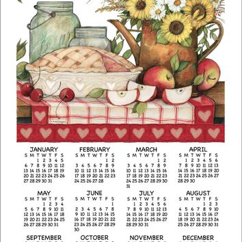 Calendar Towel 2019 - Apple Pie