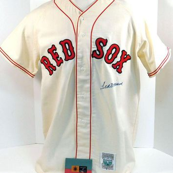 DCCKJNG Ted Williams Signed Autographed Boston Red Sox Baseball Jersey (UDA COA)
