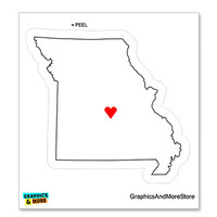 Missouri Love - Heart - State Pride Sticker