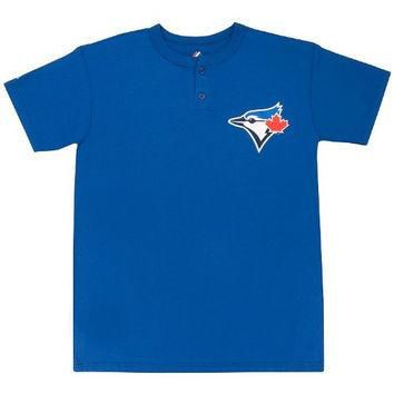 Toronto Blue Jays (YOUTH MEDIUM) Two Button MLB Officially Licensed Majestic Major Lea