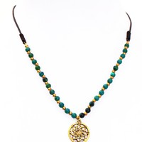 Flower of Life Stone Necklace