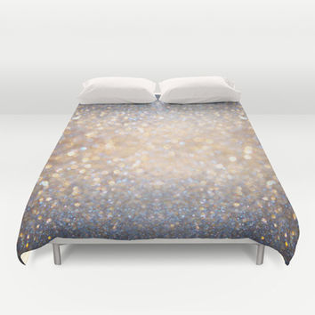 Glimmer of Light (Ombré Glitter Abstract) Duvet Cover by soaring anchor designs ⚓ | Society6