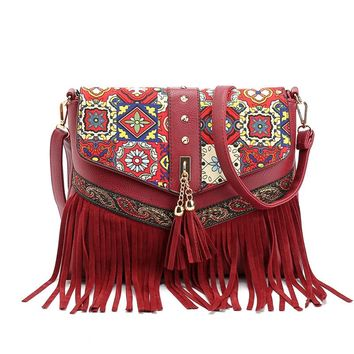 2017 Hot Sale Fashion Women Lady Fringe Weave Tassel Shoulder Messenger Cross Body Satchel Bag Sac A Main Bolsa Feminina Bags
