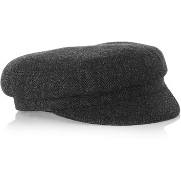 Étoile Isabel Marant - Evie herringbone wool-blend tweed flat cap