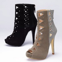 Diamond Cut-out Bootie