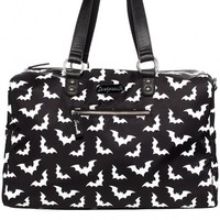 Sourpuss Spooksville Bats Travel Bag l Horror Gothic Halloween
