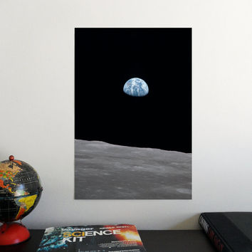 """Earthrise 19"""" x 13"""" Poster - Science Astronomy Wall Art Print- Window on the Universe series"""