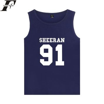 Ed Sheeran Vest Music Summer Sleeveless Comfortable Cotton Tank Top Women Fitness XXS-4XL Fashion Casual Girls