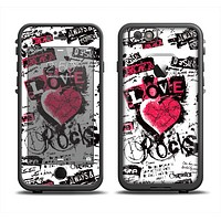 The Grunge Love Rocks Apple iPhone 6 LifeProof Fre Case Skin Set