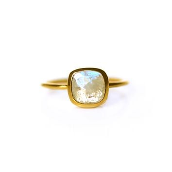 Rainbow Moonstone Mini Eclipse Ring