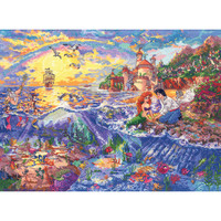 """Disney Dreams Collection By Thomas Kinkade Little Mermaid - 16""""X12"""" 18 Count"""