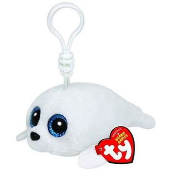 """Pyoopeo Ty Beanie Boos 4"""" 10cm Icy Seal Clip Keychain Clip Keychain Plush Stuffed Animal Collectible Doll Toy"""