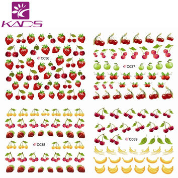 C036-047 Summer fruit purple & banana water transfer nail sticker on finger nails stickers for women nail sticker decal nail art