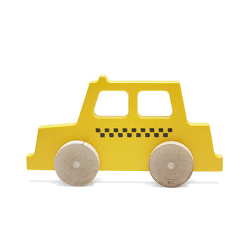 Taxi Wooden Push Toy