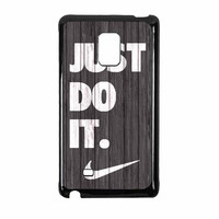 Nike Just Do It Wood Colored Darkwood Wooden Samsung Galaxy Note Edge Case