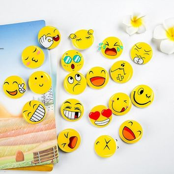 Trendy 4 pcs/lot cartoon emoji icons fashion style acrylic airplane brooch button pins denim jacket pin badge for clothes AT_94_13