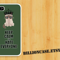 iPhone 4 Case iPhone 5 Case iPhone 4s Case idea case Galaxy Case Unique case Keep Calm and Hate Everyone Grumpy Cat