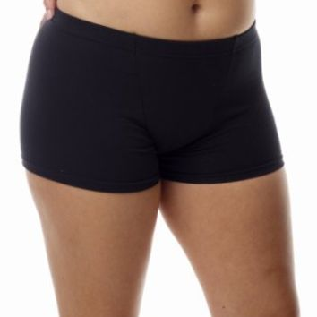 Underworks Women's Cotton Spandex Boxers Bloomers Boyleg Panties 3-Pack