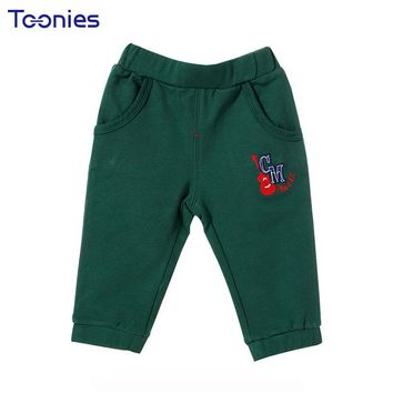 Pants for Baby Girls Boys 2018 Winter Warm Cotton Kids Trousers New Printed Newborn Legging Casual Infant Costume Simple Pockets