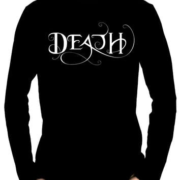 Death Being the End Men's Long Sleeve T-Shirt Occult Gothic Clothing Sandman