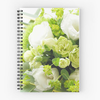Bouquet from different white seasonal flowers by yumehana