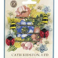 Cath Kidston - Pack of 4 Ladybird & Bumble Bee Hairslides