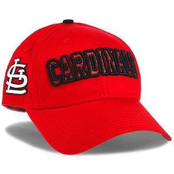 St. Louis Cardinals Hat Women's Adjustable Cap 9FORTY Team Spark MLB Red