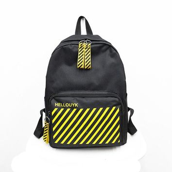 Girls bookbag Oxford Women's Travel Laptop Backpack Stripe Bookbag Teenage School Bag For Girls Rucksack Shopping Bag Men's Mochila Daypacks AT_52_3