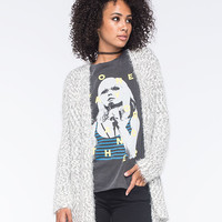 Vanilla Star Boucle Fuzzy Womens Cardigan Gray  In Sizes
