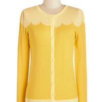 Long Sleeve Paris Cafe Cardigan in Jaune