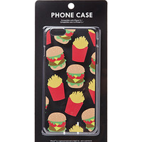 Clear Burger and Fries Print Phone Case