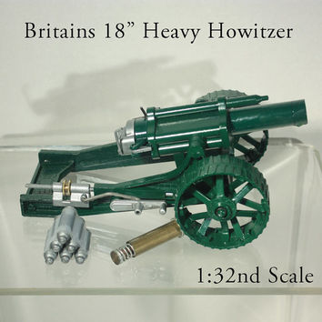 "NIB Britains 18"" Heavy Howitzer Model 9740 Metal 1:32 Scale Original Box 1974"