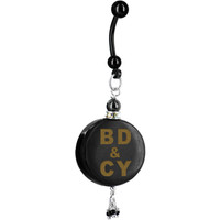 Custom Handcrafted Black Horn No 4 PERSONALIZED Belly Ring | Body Candy Body Jewelry