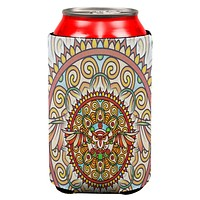 Mandala Trippy Stained Glass Owl All Over Can Cooler