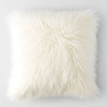 AEO APT Faux Fur Pillows , Cream