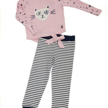 Joules Cat Nap Pajama Set