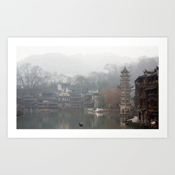 China's ancient town Art Print by Color and Color