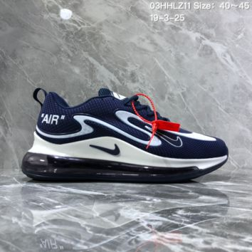 DCCK2x N1073 Nike Air Max 720 Nanotechnology Drop Plastic Material Full Palm Air Cushion Running Shoes Blue White