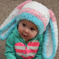 Newborn - 5T Fluffy Girl Easter Bunny Hat! (Easter Gift, Babies First Easter, Bunny Hat, Easter Bunny Ears, Baby Shower Gift, Easter Prop)