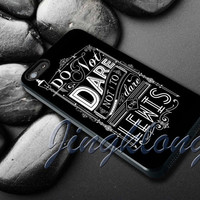 Lewis Typography Cover - iPhone 4 4S iPhone 5 5S 5C and Samsung Galaxy S3 S4 Case