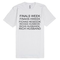 rich husband-Unisex White T-Shirt