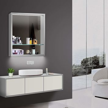 "MICRO -  LED Wall-Mounted Mirror Cabinet 24""x30"""