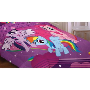 My Little Pony Twin Comforter Equestria Rainbow Mania Bed