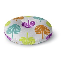 KESS InHouse Julia Grifol Tropico Gray Green Digital Round Floor Pillow, 26""