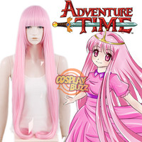 Adventure Time Princess Bubblegum Long Straight Pink Anime Cosplay Wig PL023 - CosplayBuzz