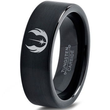 Star Wars Jedi Order Black Tungsten Ring
