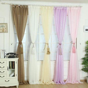 CUPUP9G Super Deal Elegant Tulle Door Window Curtain Drape Panel Sheer Scarf Valances XT